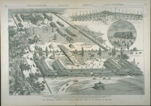 Champ de course de l'Exposition provinciale en 1881. (Canadian Illustrated News, 24 septembre 1881, BANQ)