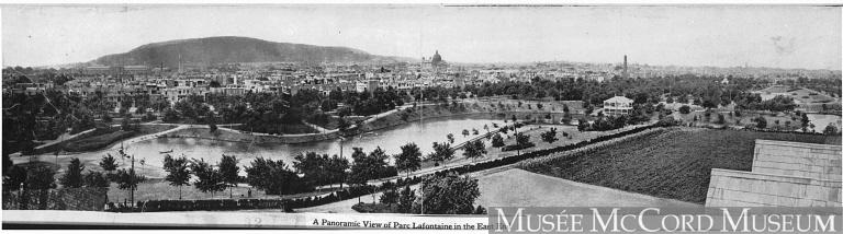 Panorama du parc Lafontaine vers 1910. MP-0000.840.26, Musée McCord.
