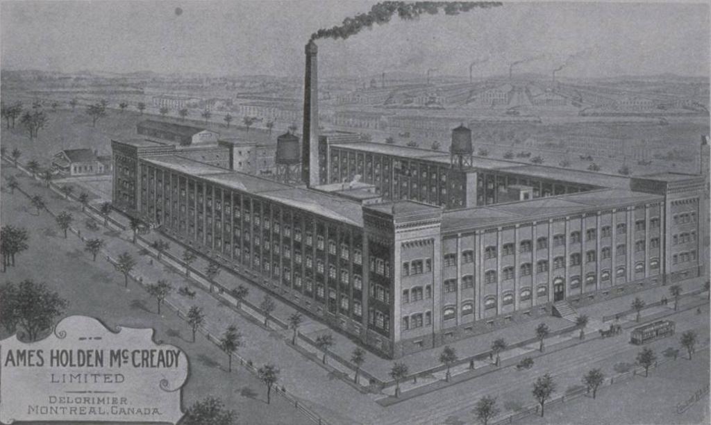 Ancienne usine de chaussure Ames Holden McCready, avenue du Mont-Royal Est. BAnQ.