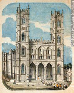 Basilique Notre-Dame, 1850-1885. J. H. Walker. Musée McCord.