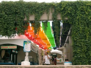 L'Agora comme place culturelle des Outgames de Montréal au square Viger en 2006.