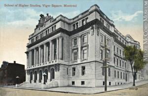 École des Hautes études commerciales, vers 1910. Musée McCord, MP-0000.840.11.