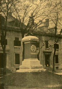 Monument à Chénier, place Viger, 1895. Le Monde Illustré, 7 septembre 1895, BAnQ.