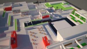 Projet de restauration de l'Agora du square Viger.