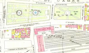 Square Viger, 1912. Atlas Goad, BAnQ.