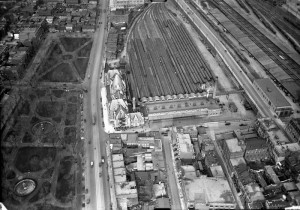 Square Viger et gare-hôtel Viger, vers 1927. BAnQ, E21,CAFC,X14.