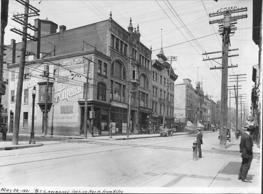 Édifice Robillard, 1921. Archives de Montréal, VM-Y_1P018