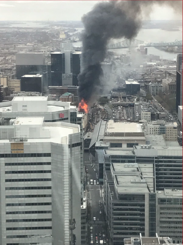 Incendie de l'édifice Robillard, 17 novembre 2016.