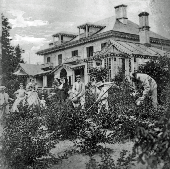 Jardin de la résidence H. Gault, vers 1860-1870. Musée McCord, II-66988.0.