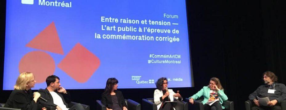 «L'avenir de la commémoration à Montréal», panel de clôture du Forum «Entre raison et tension - L'art public à l'épreuve de la commémoration corrigée» de Culture Montréal